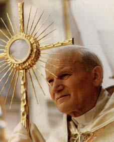 "St. Pope John Paul II ""In the Eucharist, the Face of Christ is turned towards us."""