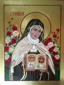St. Therese of The Child Jesus and The Holy Face Icon by Patricia Enk