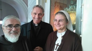 Fr. Carmine, rector of the Shrine, Msgr. Georg Ganswain and Sr. Petra-Maria