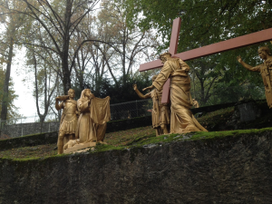 Sixth Station of the Cross at Lourdes, Veronica wipes the Face of Jesus