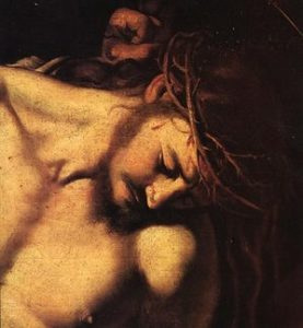 """Oh Jesus, who in Thy Cruel Passion didst become the ""Reproach of men and the Man of Sorrows,"" I worship Thy Divine Face."" --St. Therese"