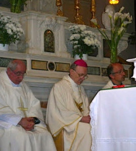The Most Reverend Bishop Perrier of Tarbes-Lourdes 2010 visit to Manoppello Shrine
