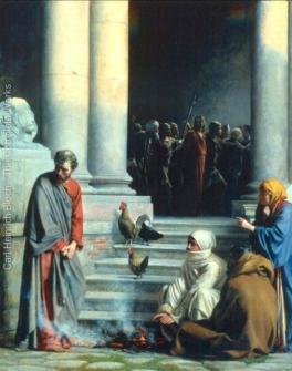 Denial of St. Peter by Carl Bloch