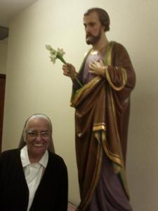 Teresian Sr. Martha and her beloved St. Joseph.
