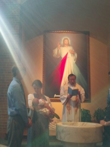 Divine Mercy in the waters of Baptism
