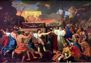 Adoration of the Golden Calf by Nicholas Poussin