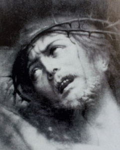 Image of Jesus crucified which hung in Mother Teresa's room. It was one of her last sights before dying.