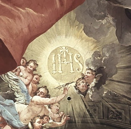 """""""IHS"""" Monogram of The Holy Name - Church of The Gesu, Rome"""