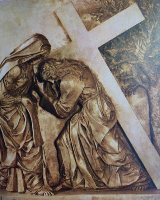 """Way of the Cross, 6th Station Our Lady of Grace Capuchin Friary, San Giovanni """"Veronica Wipes the Face of Jesus"""""""