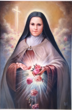 Happy Feast of St. Therese! painting by Brenda Burke