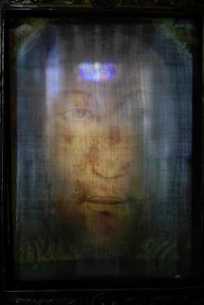 """Il Volto Santo"" The Holy Face of Manoppello. Photo by Paul Badde"