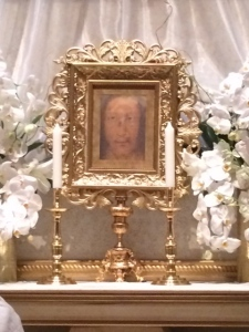 Blessed Replica of the Holy Face of Manoppello, at Cathedral of Our Lady of the Angels, Los Angeles