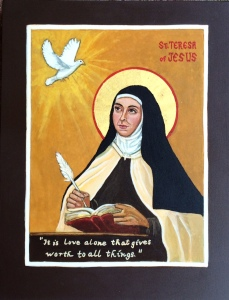 St. Teresa of Avila Icon by Patricia Enk
