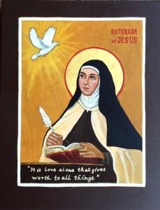 St. Teresa of Avila Icon by Patricia Enk
