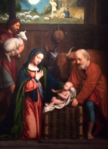 Adoration of the Christ Child and Annunciation to the Shepherds by Bernardino Luini