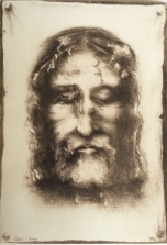 Drawing of The Shroud of Turin by Sr. Genevieve of the Holy Face (Celine Martin, the sister of St. Therese)