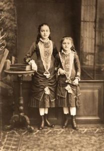 Young Celine (left) and St. Therese (right) 1881