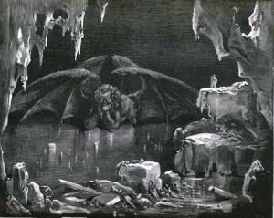 Gustav Dore's illustration of Canto 34 of Dante's Inferno