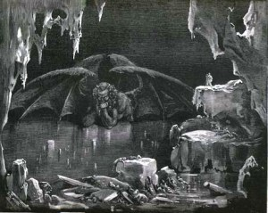 Gustav Dore's illustration of Canto 34 of Dante's Inferno