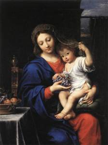 The Virgin of the Grapes by Pierre Mignard