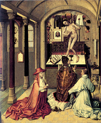 The Mass of St. Gregory I by Robert Campin 15th Century