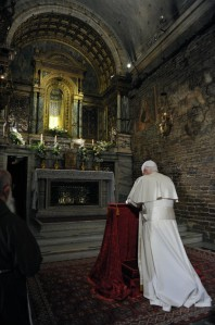 Pope Benedict XVI in the Holy House of Loreto
