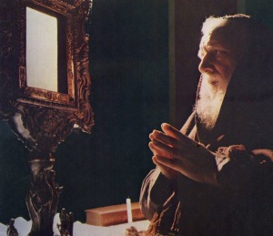 Franciscan Capuchin Venerable Padre Domenico da Cese (1915-1978) as Rector of the Shrine of the Holy Face in Manoppello