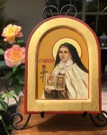 St. Therese Icon by Patricia Enk
