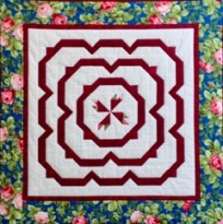 Handmade quilt by Carolyn Pelzex (mother of Sr. Grace!) for silent auction