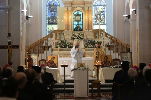 Metropolitan Job Getcha of Talmessos giving homily. Photo: Daniel Ibanez (CNA/EWTN) Photo: