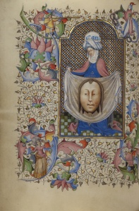 Veronica displaying the Sudarium, Flemish ca.1450-1455 Getty Museum