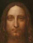 "Face of Jesus from Leonardo daVinci's ""Salvator Mundi"""