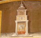 """Fresco of ciborium that existed in 708 containing sudarium of the """"Veronic"""" True Icon"""