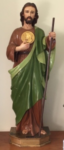 St. Jude Thaddues, holding the Face of Jesus