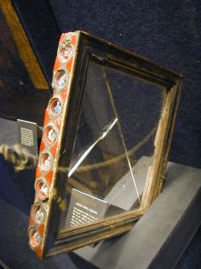 The reliquary frame which held the Veronica Veil on display in the Vatican Museum.