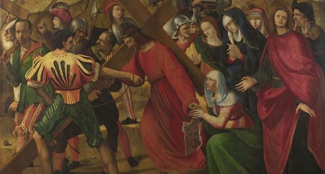 Ridolfo Ghirlandaio, 1483 - 1561 The Procession to Calvary ca. 1505, detail