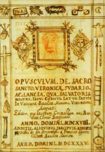 Opusculum of the Holy Face by Francesco Speroni