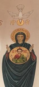 Mural by Dom Gregory DeWitt, St. Jospeh Abbey, Louisiana