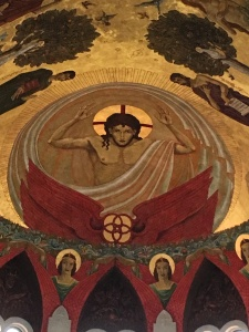 Mural by Dom Gregory DeWitt, St. Joseph Abbey, Louisiana