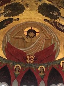 Mural by Dom Gregory DeWitt, St. Joseph Abbey, Louisiana