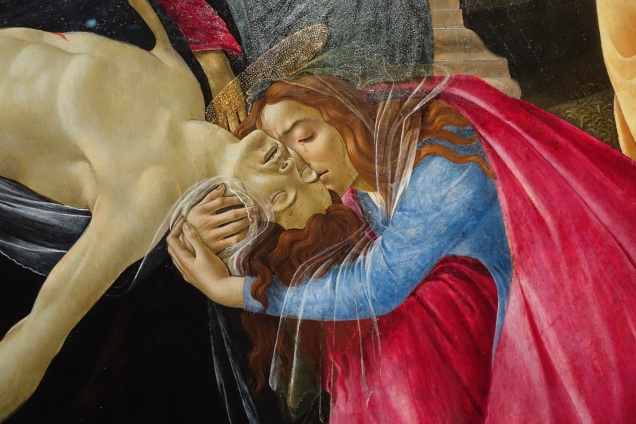 Another Mary, Mary Magdalene embracing the Face of Jesus